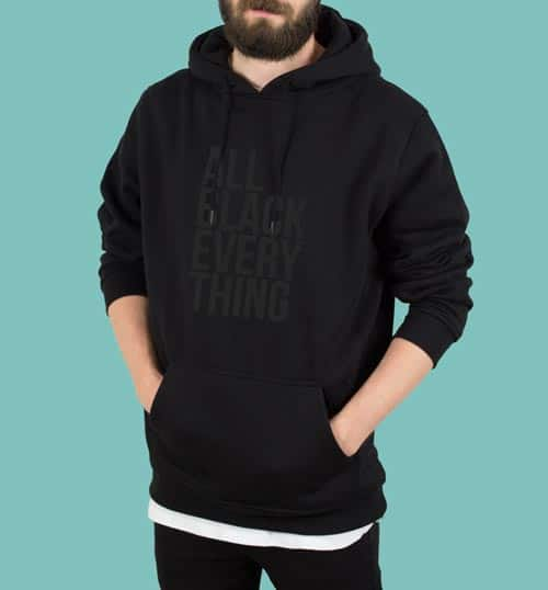 ALL BLACK EVERYTHING – Hoodie – schwarz