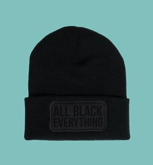 ALL BLACK EVERYTHING | Beanie – schwarz