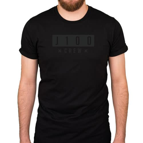 CLASSIC J100 – Shirt – Black on Black