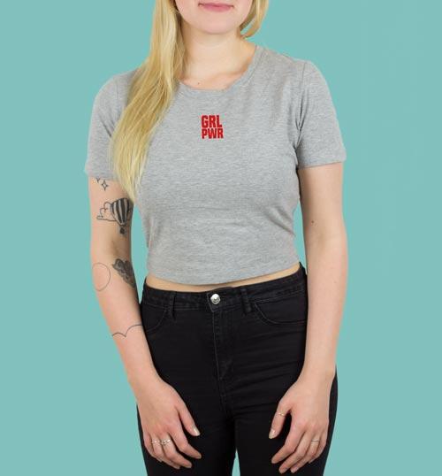 GRL PWR   Shirt – grau