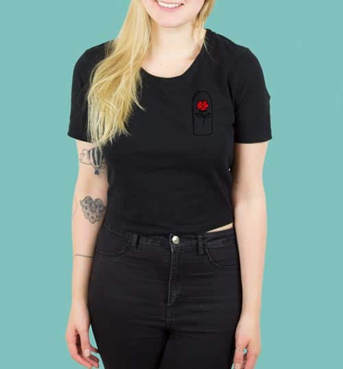 ROSE – Shirt – schwarz