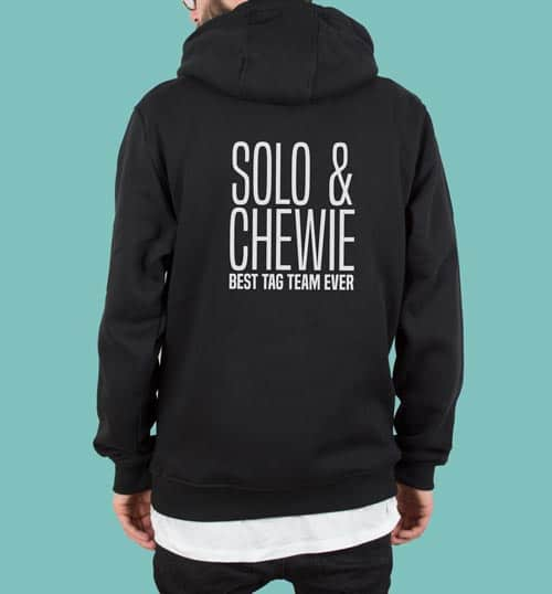 SOLO & CHEWIE – Hoodie – schwarz