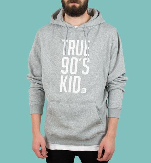 TRU90 | Hoodie – grau